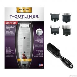 Andis T-Outliner Hair Trimmer with 4 Attachment Combs Blade Brush Set